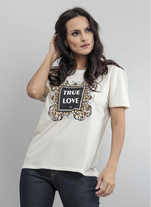 CAMISETA FEMININA SILK TRUE LOVE