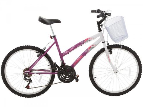 Bicicleta Track & Bikes Parati Aro 24 18 Marchas - Quadro de Aço Freio V-Brake